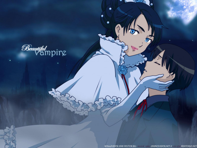 Обои для рабочего стола Дива с Риком (Beautiful Vampire), аниме Blood+ ( Ru